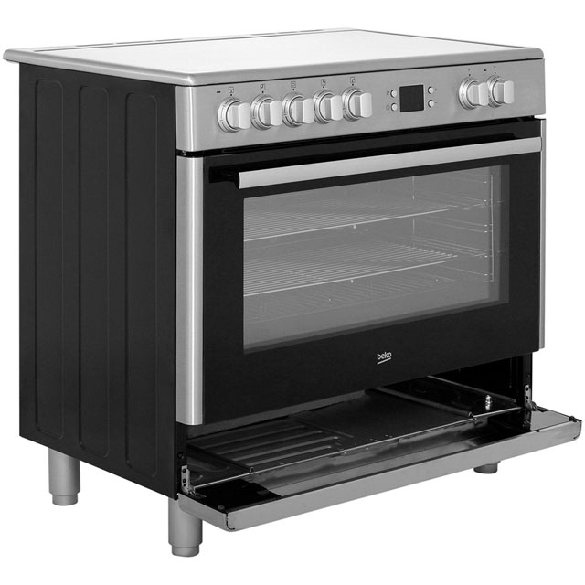Beko BHSC90X Electric Range Cooker - Stainless Steel - BHSC90X_SS - 3