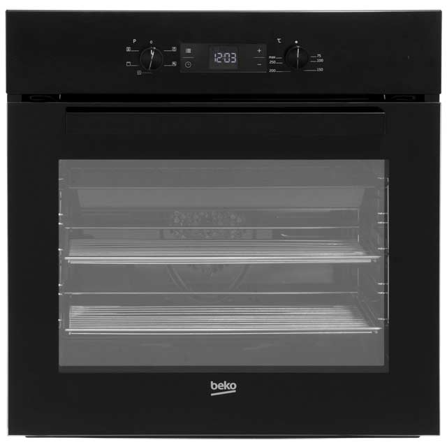 Beko EcoSmart BIF22300B Built In Electric Single Oven - Black - BIF22300B_BK - 1