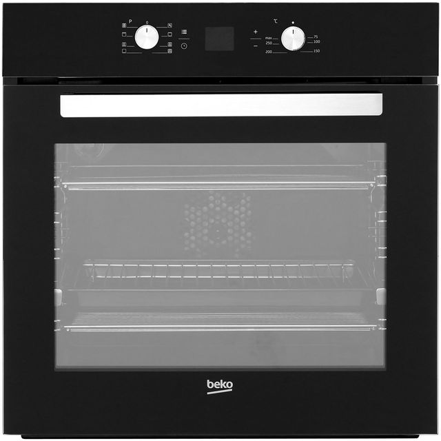 Beko BIM14300BC Built In Electric Single Oven - Black - BIM14300BC_BK - 1
