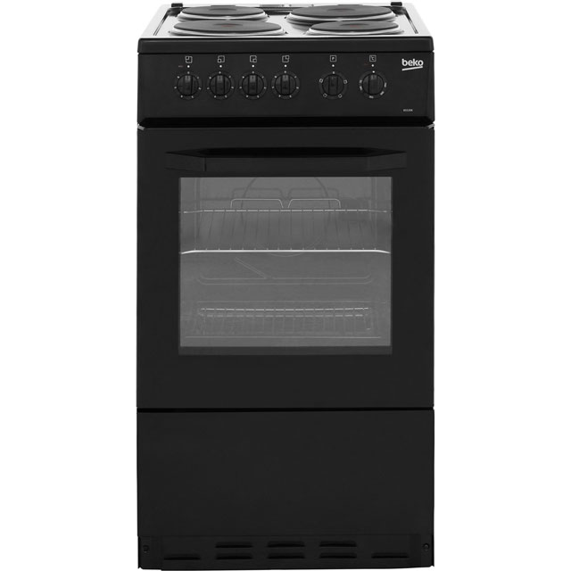 Beko BS530K Electric Cooker with Solid Plate Hob - Black Best Price, Cheapest Prices