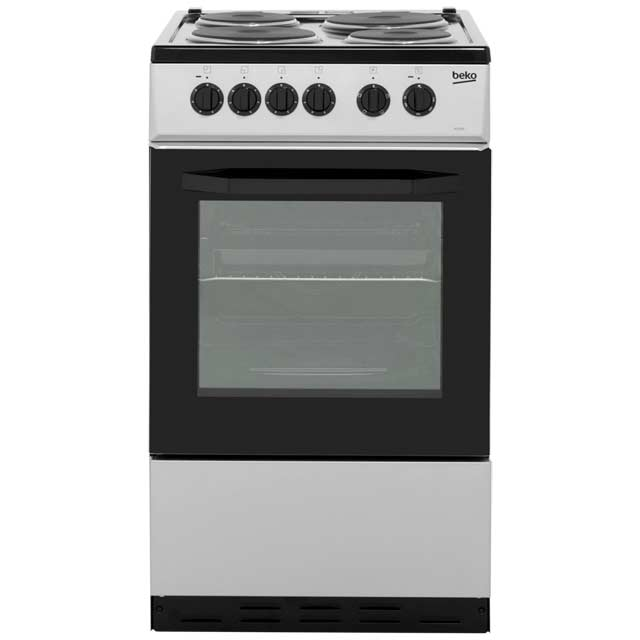 Beko BS530S Electric Cooker with Solid Plate Hob - Silver Best Price, Cheapest Prices
