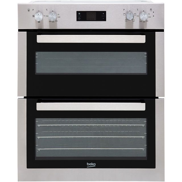 Beko BTF26300X Built Under Electric Double Oven - Stainless Steel - BTF26300X_SS - 1