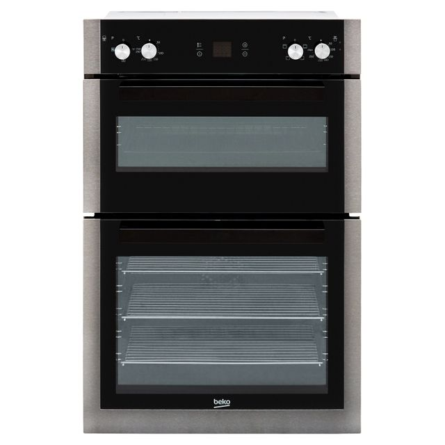 Beko BXDF29300Z Built In Double Oven - Black Steel - BXDF29300Z_BS - 1