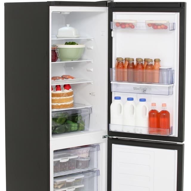 Beko CFG1582DB 50/50 Frost Free Fridge Freezer - Black - CFG1582DB_BK - 3
