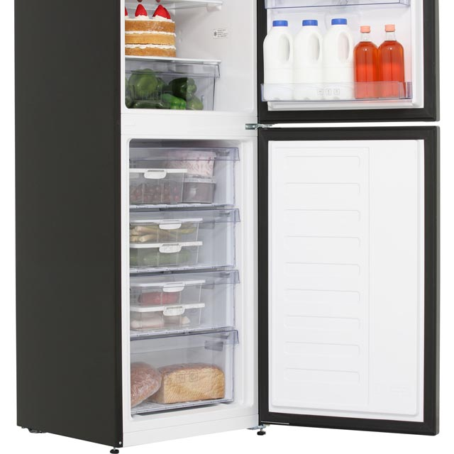 Beko CFG1582DB 50/50 Frost Free Fridge Freezer - Black - CFG1582DB_BK - 5