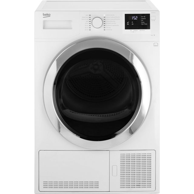 Beko DCR93161W 9Kg Condenser Tumble Dryer - White - B Rated - DCR93161W_WH - 1