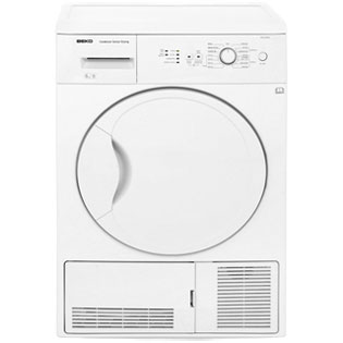Beko DCU6130W Free Standing Condenser Tumble Dryer in White