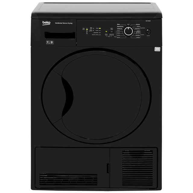Beko DCU7230B Free Standing Condenser Tumble Dryer in Black