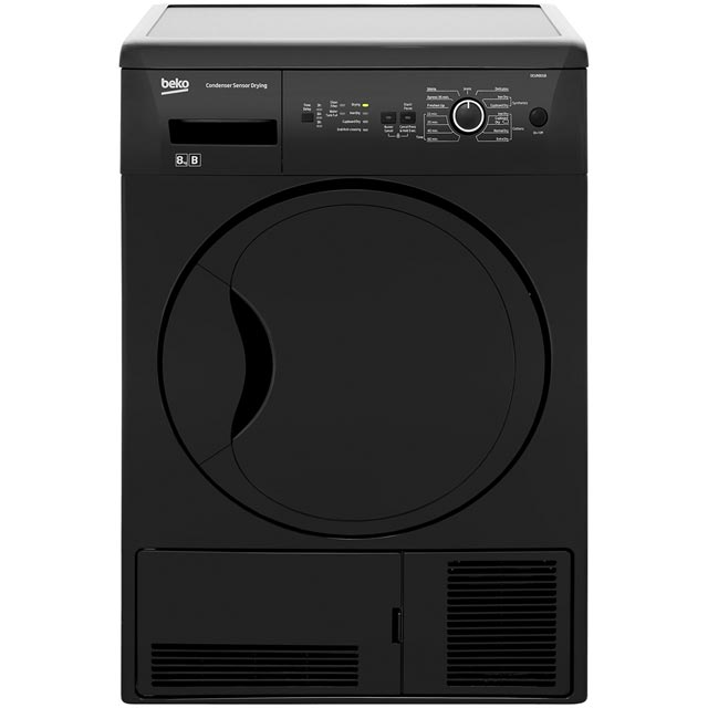 Beko DCUR801B Free Standing Condenser Tumble Dryer in Black