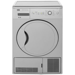 Beko DCUR801S Free Standing Condenser Tumble Dryer in Silver