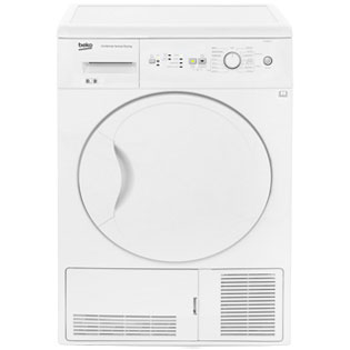 Beko DCUR801W Free Standing Condenser Tumble Dryer in White