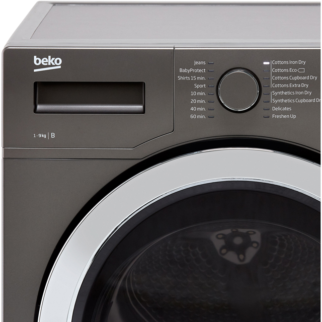 Beko DCR93161W 9Kg Condenser Tumble Dryer - White - B Rated - DCR93161W_WH - 2
