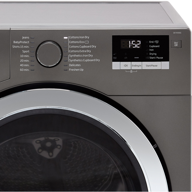 Beko DCR93161W 9Kg Condenser Tumble Dryer - White - B Rated - DCR93161W_WH - 3