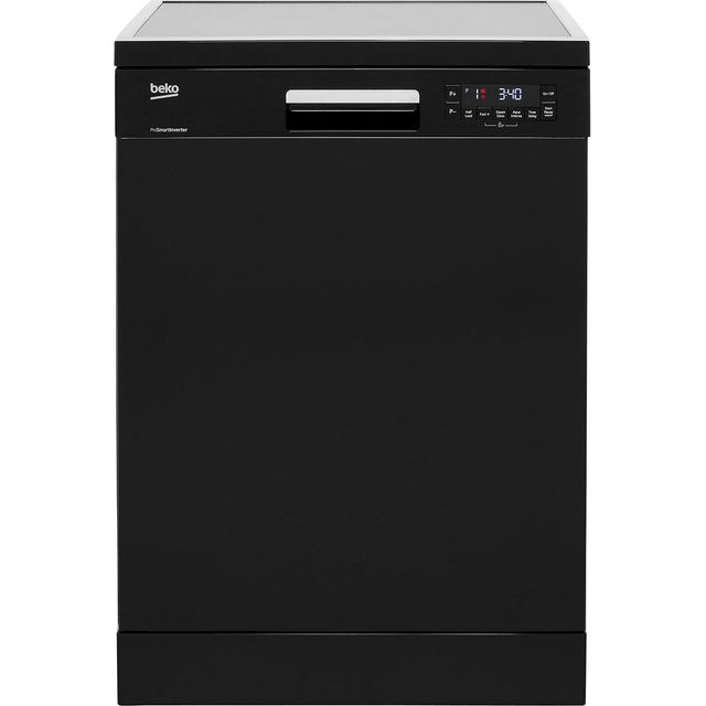 Beko DFN28R22B Standard Dishwasher - Black - A++ Rated - DFN28R22B_BK - 1
