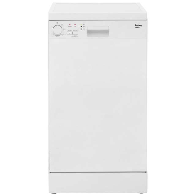 Beko Free Standing Slimline Dishwasher in White
