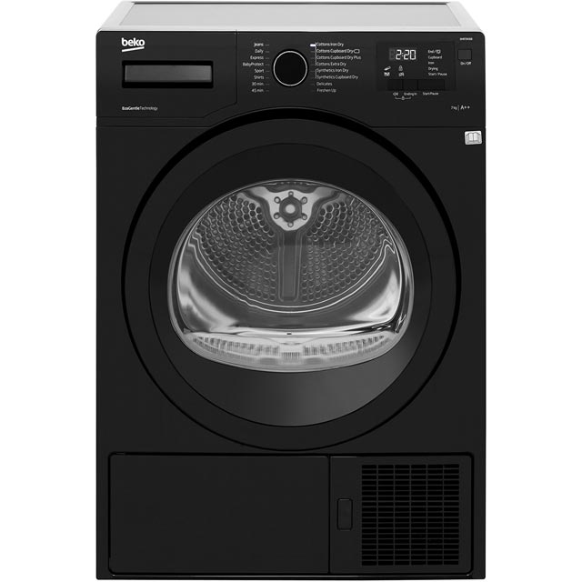 Beko DHR73431B Free Standing Condenser Tumble Dryer in Black