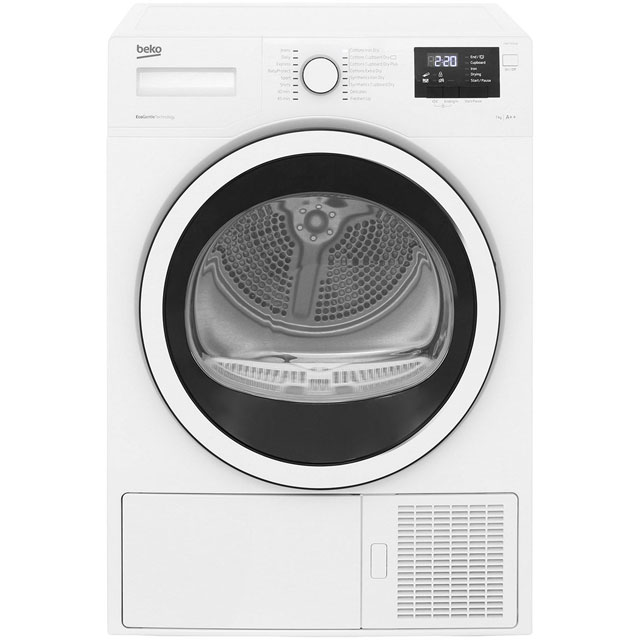 Beko DHR73431W 7Kg Heat Pump Tumble Dryer - White - A++ Rated - DHR73431W_WH - 1