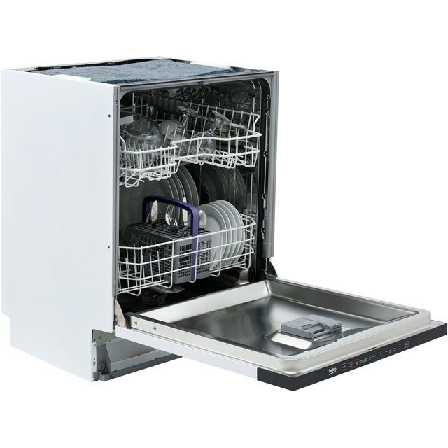 Beko DIN15R11 Fully Integrated Standard Dishwasher - Silver Control Panel with Fixed Door Fixing Kit - A+ Rated - DIN15R11_SI - 1