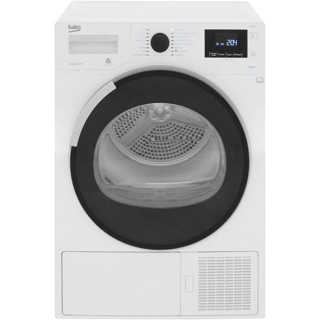 Beko DPHR8PB561W 8Kg Heat Pump Tumble Dryer - White - A+++ Rated - DPHR8PB561W_WH - 1