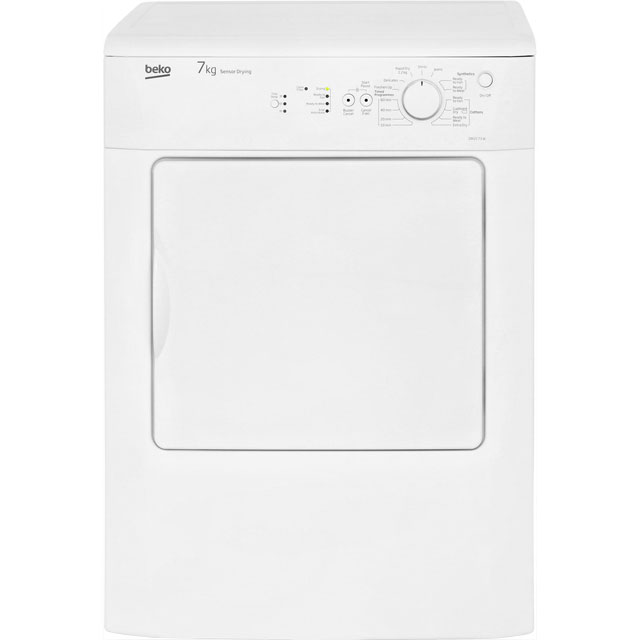 Beko DRVS73W 7Kg Vented Tumble Dryer - White - C Rated - DRVS73W_WH - 1