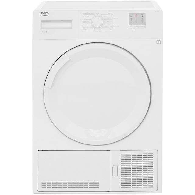 Beko DTGC7000W 7Kg Condenser Tumble Dryer - White - B Rated - DTGC7000W_WH - 1