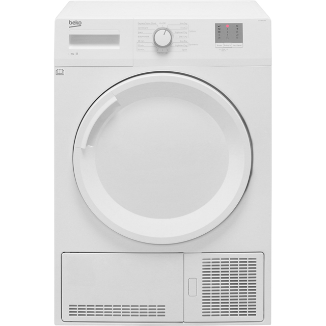 Beko DTGC8001RW 8Kg Condenser Tumble Dryer - White - B Rated - DTGC8001RW_WH - 1