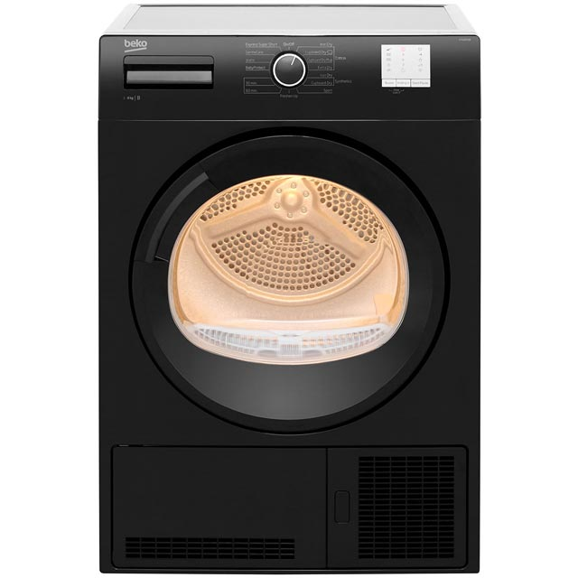 Beko DTGC8011B Free Standing Condenser Tumble Dryer in Black