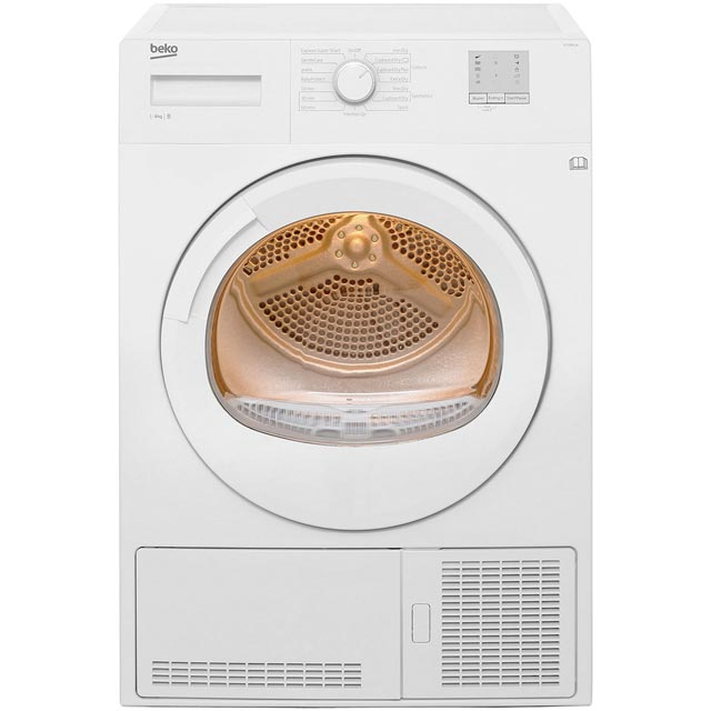 Beko DTGC8011W 8Kg Condenser Tumble Dryer - White - B Rated - DTGC8011W_WH - 1