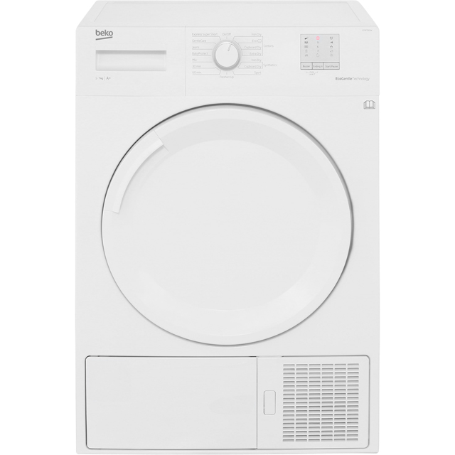 Beko DTGP7001W 7Kg Heat Pump Tumble Dryer - White - A+ Rated - DTGP7001W_WH - 1