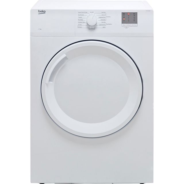 Beko DTGV7000W 7Kg Vented Tumble Dryer - White - C Rated - DTGV7000W_WH - 1