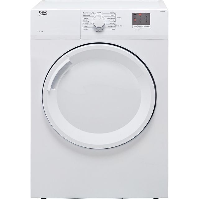 Beko DTGV8000W 8Kg Vented Tumble Dryer - White - C Rated - DTGV8000W_WH - 1
