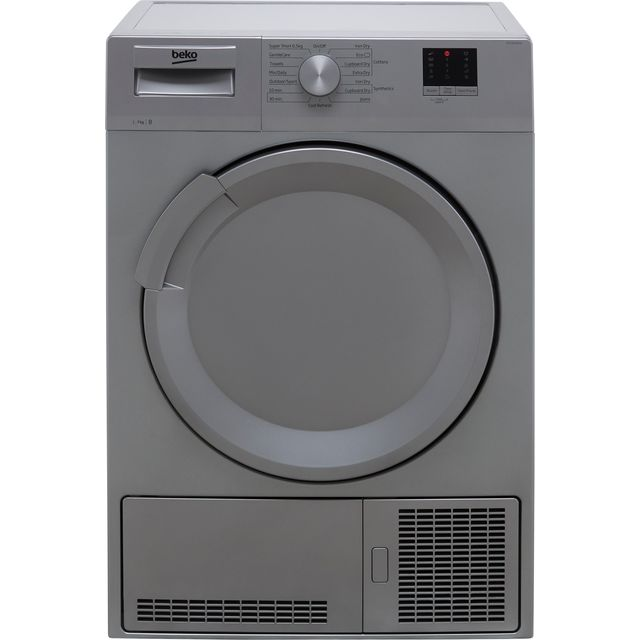 Beko DTLCE70051S 7Kg Condenser Tumble Dryer - Silver - B Rated