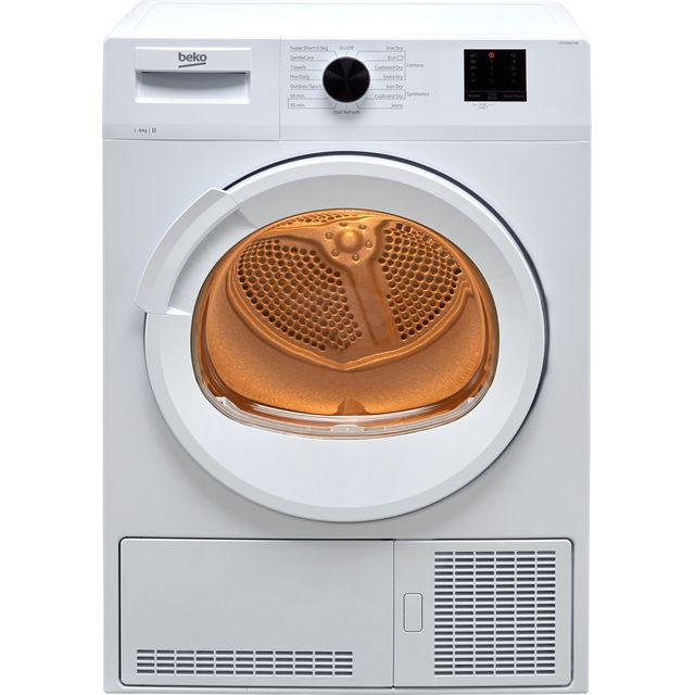 Beko DTLCE80121W 8Kg Condenser Tumble Dryer - White - B Rated