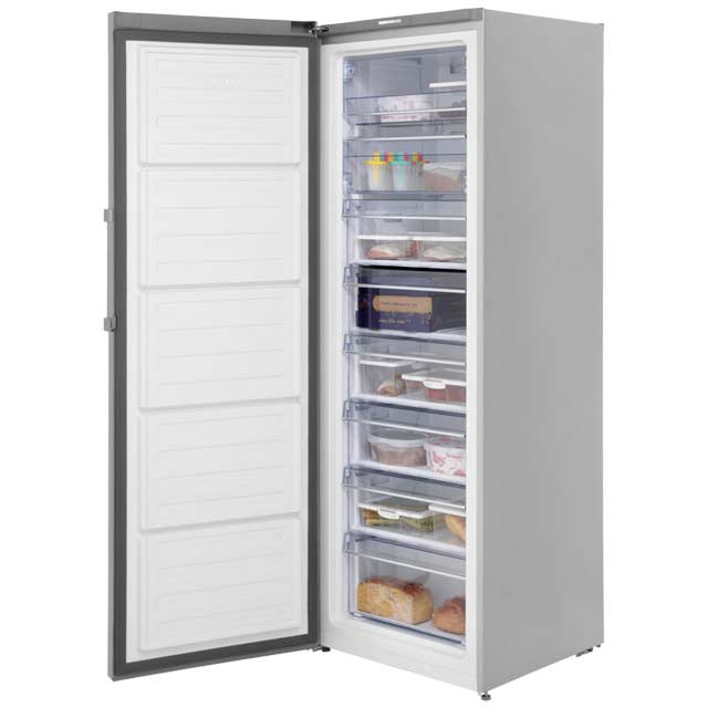 Beko FRFP1685X Upright Freezer - Stainless Steel - FRFP1685X_SS - 2