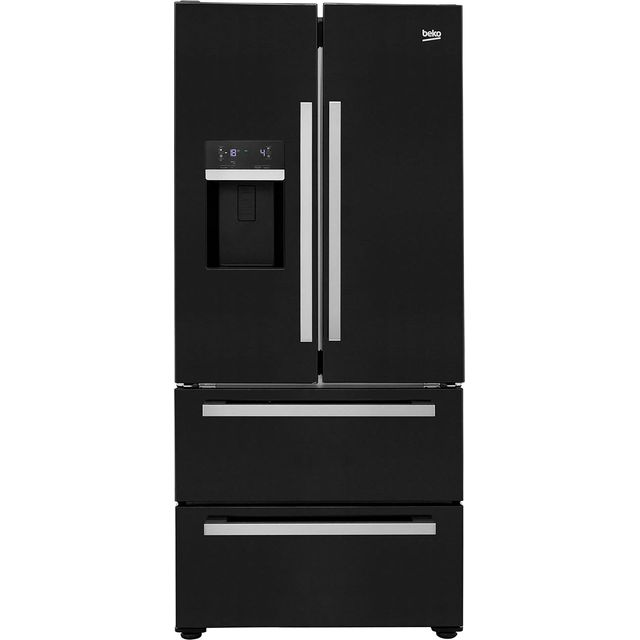 Beko GRNE60520DB American Fridge Freezer - Black - A+ Rated - GRNE60520DB_BK - 1