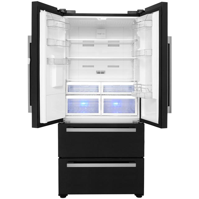 Beko GRNE60520DB American Fridge Freezer - Black - GRNE60520DB_BK - 2