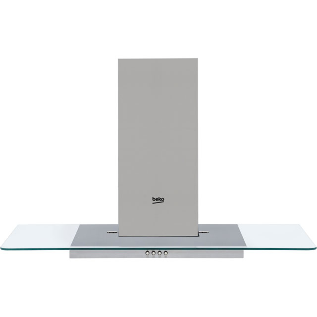 Beko HCF91620X 90 cm Chimney Cooker Hood - Stainless Steel - B Rated - HCF91620X_SS - 1