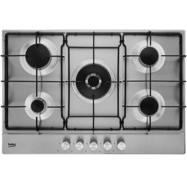 Beko HIAW75224SX Built In Gas Hob - Stainless Steel - HIAW75224SX_SS - 1