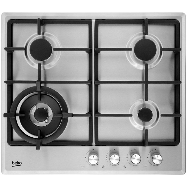 Product image for Beko HIMW64225SX 58cm Gas Hob - Stainless Steel