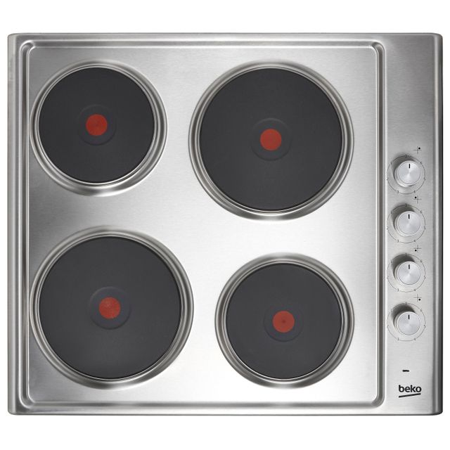 Beko HIZE64101X Built In Solid Plate Hob - Stainless Steel - HIZE64101X_SS - 1