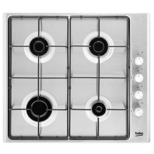 Beko HIZG64120SX Built In Gas Hob - Stainless Steel - HIZG64120SX_SS - 1