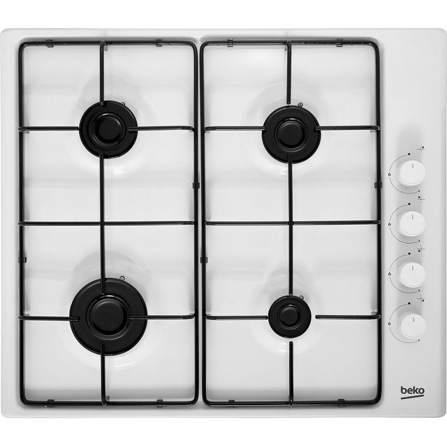 Beko HIZG64120SW Built In Gas Hob - White - HIZG64120SW_WH - 1