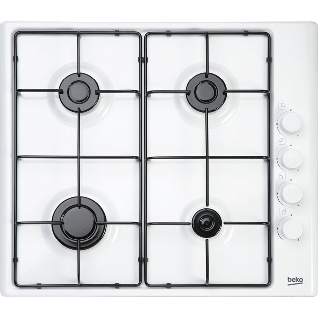 Beko HIZG64120SW Integrated Gas Hob in White