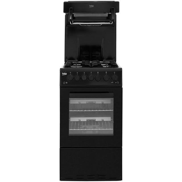 Beko KA52NEK 50cm Gas Cooker with Full Width Gas Grill - Black - A Rated - KA52NEK_BK - 1