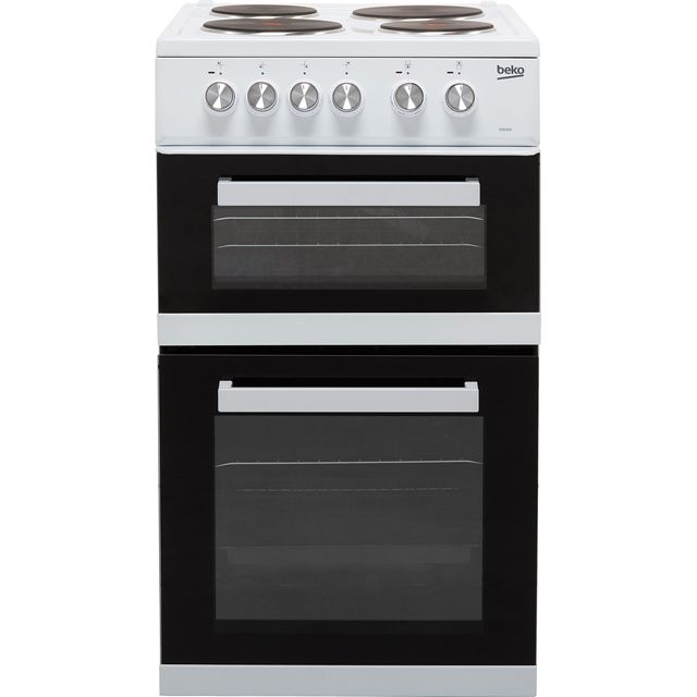 Beko KD532AW 50cm Electric Cooker with Solid Plate Hob - White - A Rated