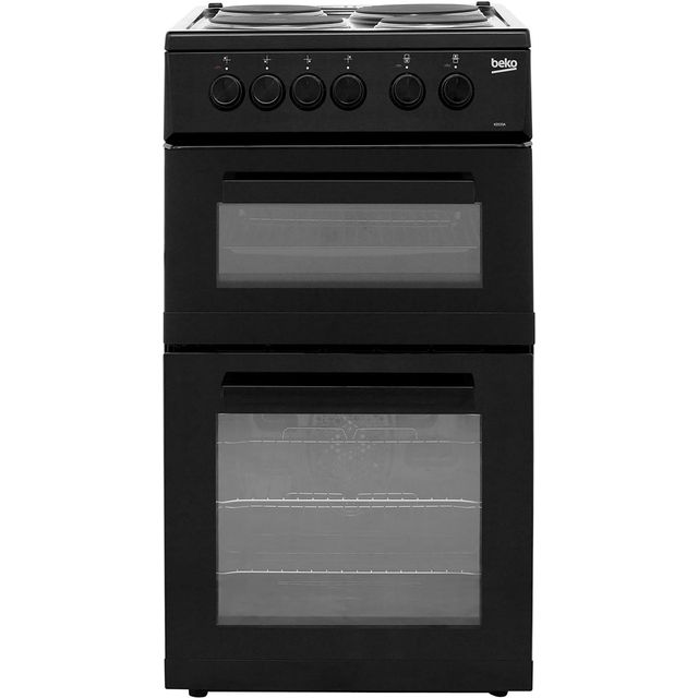 Beko 50cm Electric Cooker with Solid Plate Hob - Black - A Rated