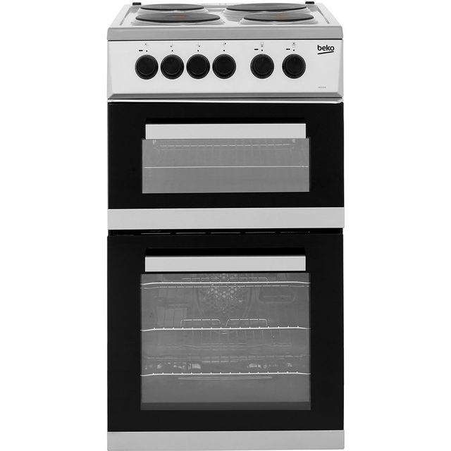 Beko KD533AS Electric Cooker with Solid Plate Hob - Silver - A Rated