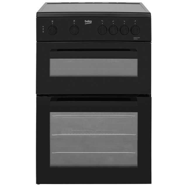 Beko KDC611K 60cm Electric Cooker with Ceramic Hob - Black - A/A Rated - KDC611K_BK - 1