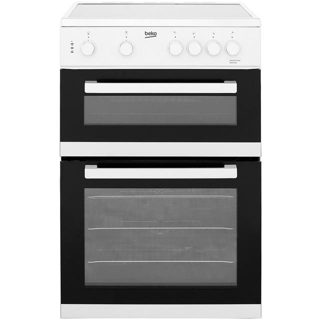 Beko KDC611W 60cm Electric Cooker with Ceramic Hob - White - A/A Rated - KDC611W_WH - 1