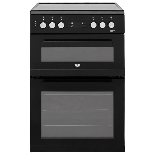 Beko KDC653K 60cm Electric Cooker with Ceramic Hob - Black - A/A Rated - KDC653K_BK - 1
